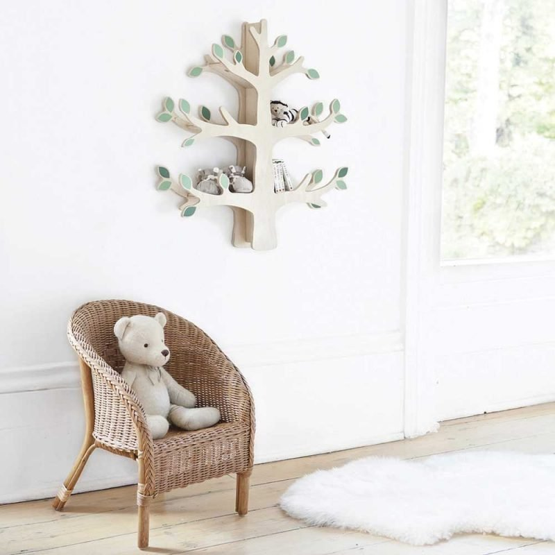 Tree shaped wall shelf