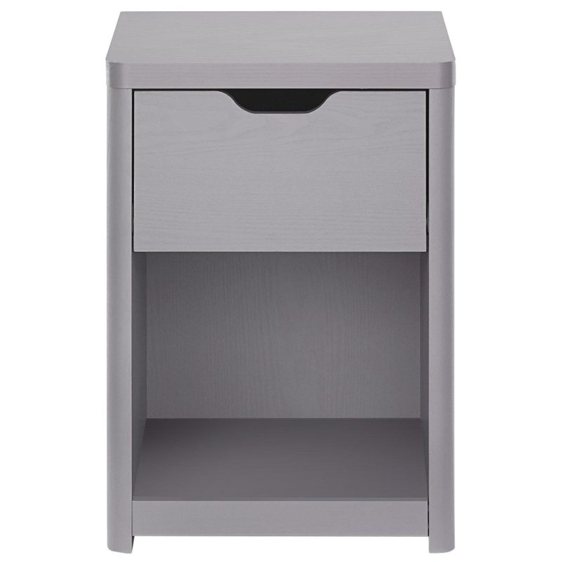 Grey bedside unit