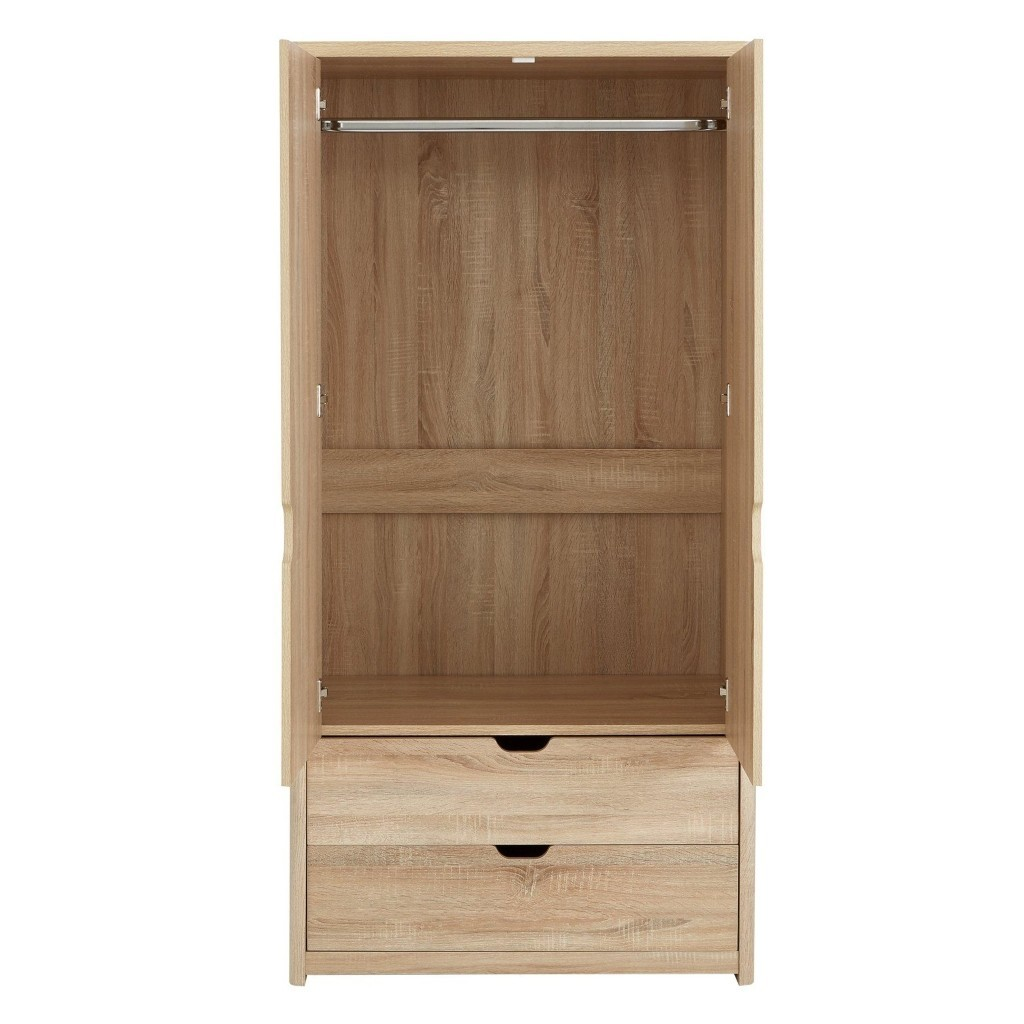 Interior of the 2 door wardrobe