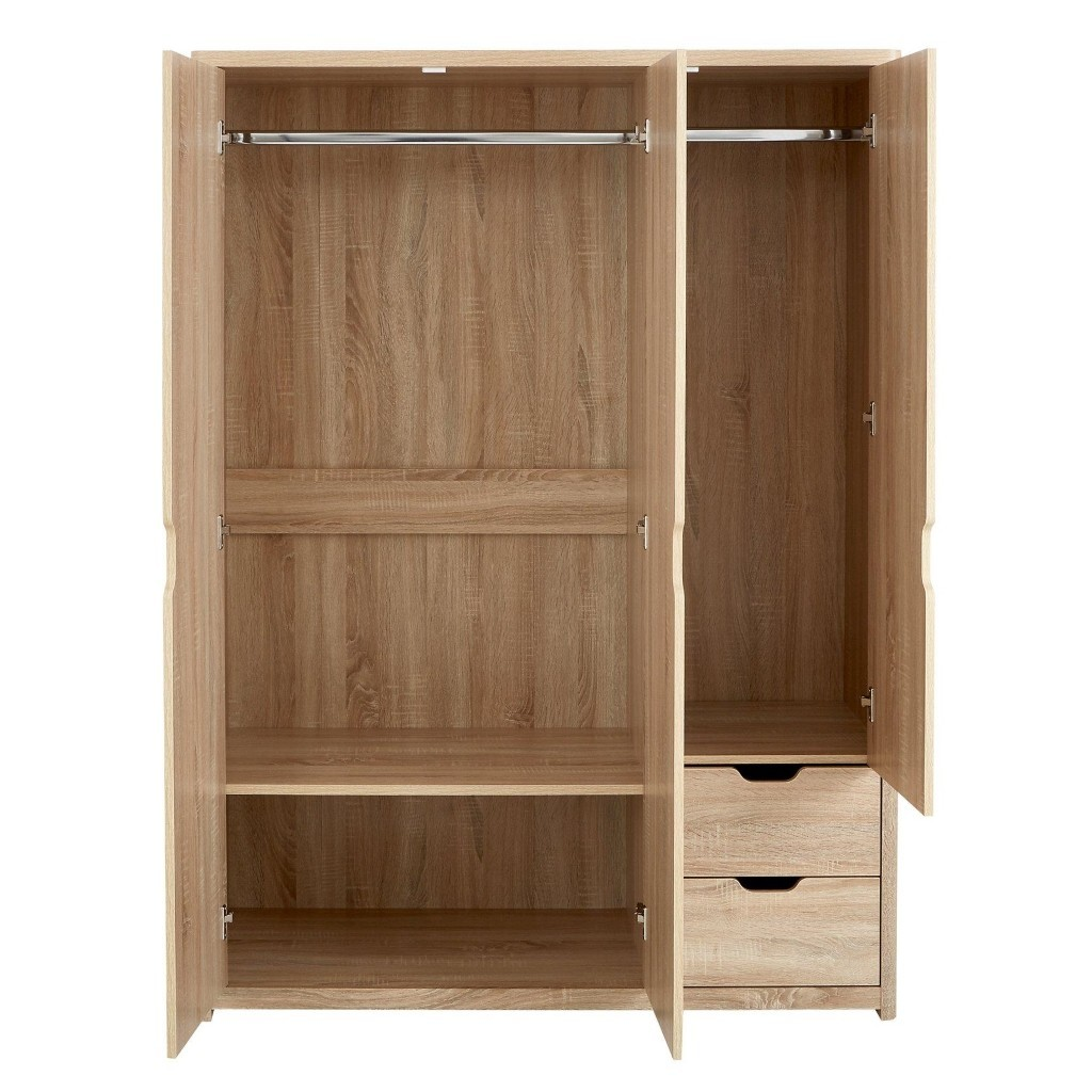 Interior of the 3 door wardrobe