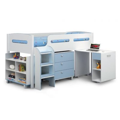 Boy's storage cabin bed