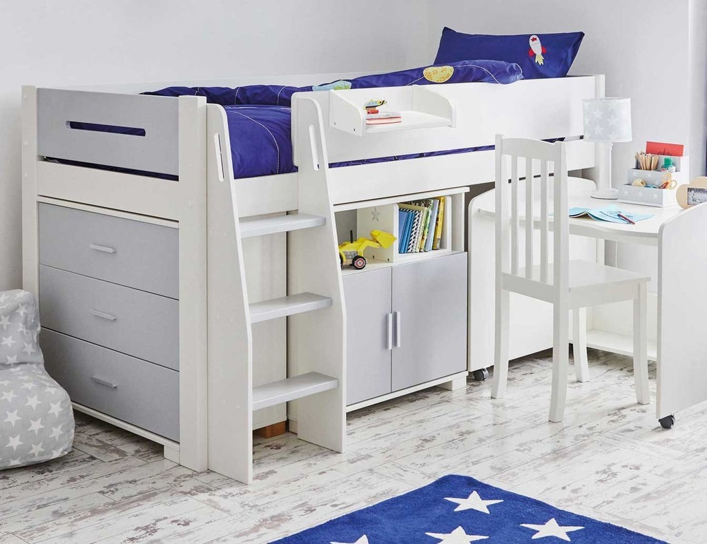 Mid-sleeper with optional furniture