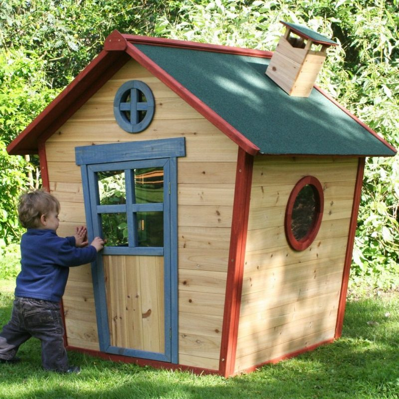 Crooked house-style playhouse