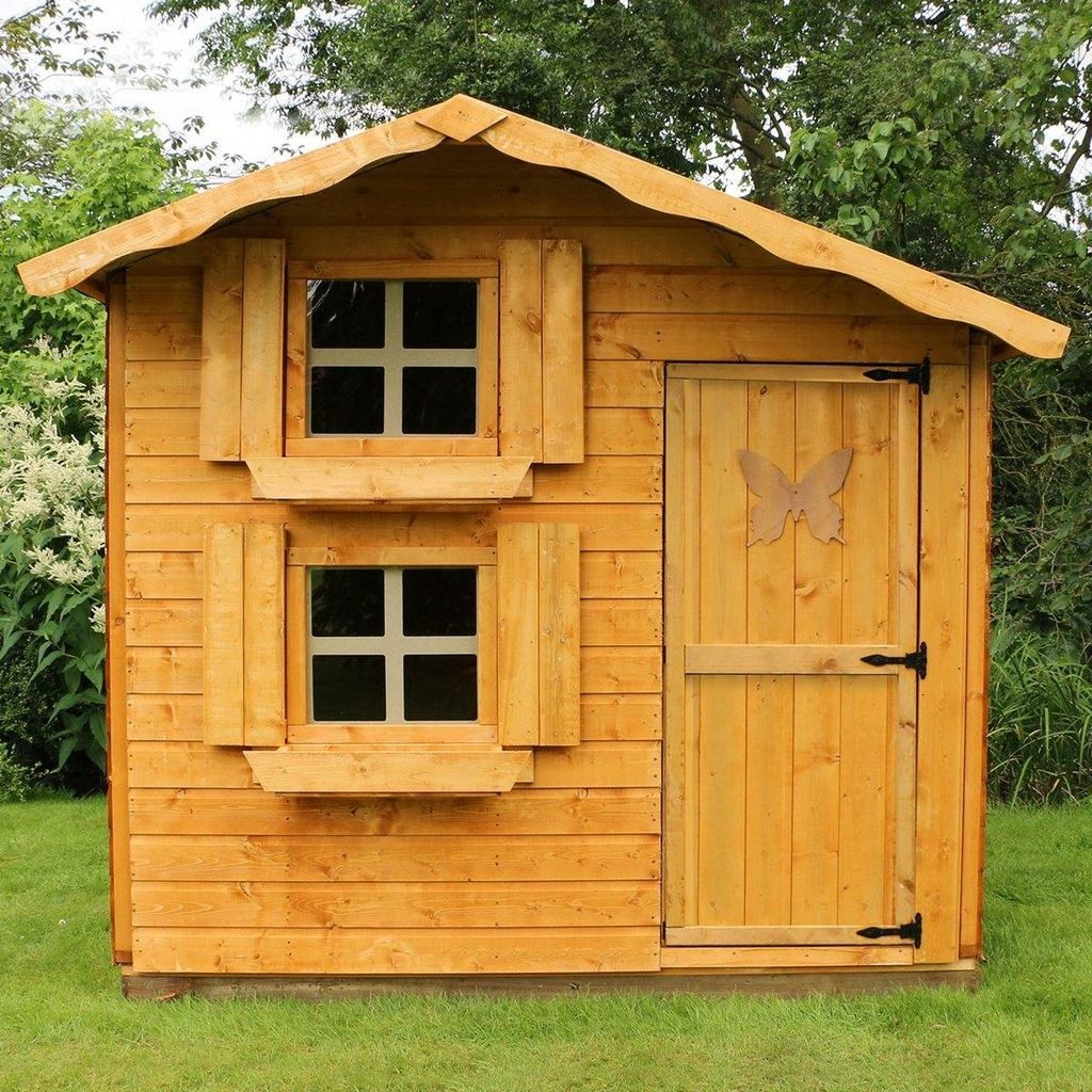 2 tier playhouse with tongue & groove cladding