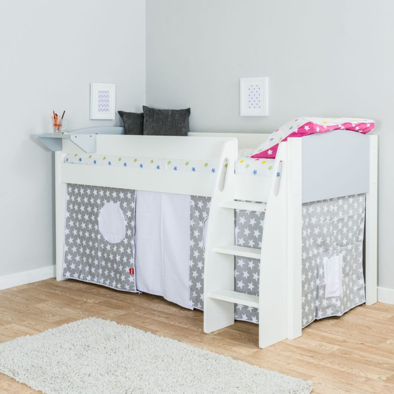 Grey/white mid-sleeper with tent
