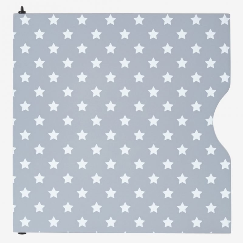 Grey door with white stars pattern