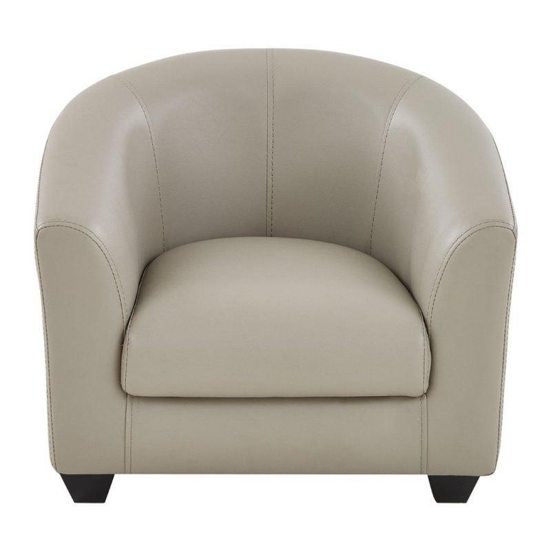 Grey faux leather tub chair