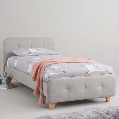 Fabric upholstered bed