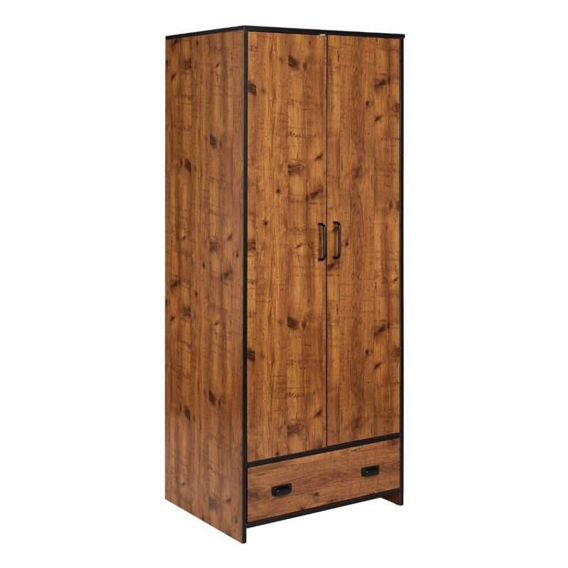 Pine 2 door wardrobe with drawer