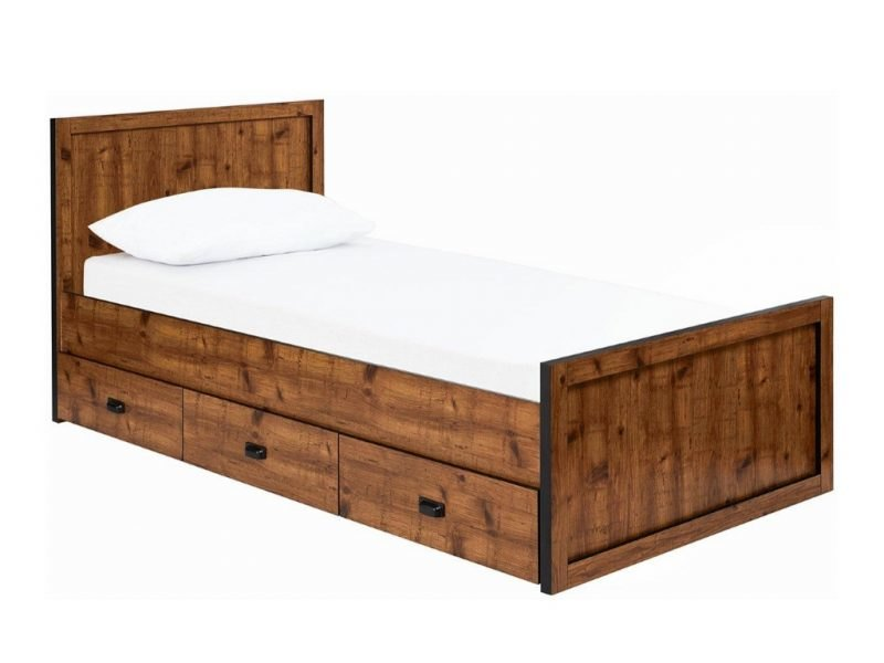 Rustic pine storage bed