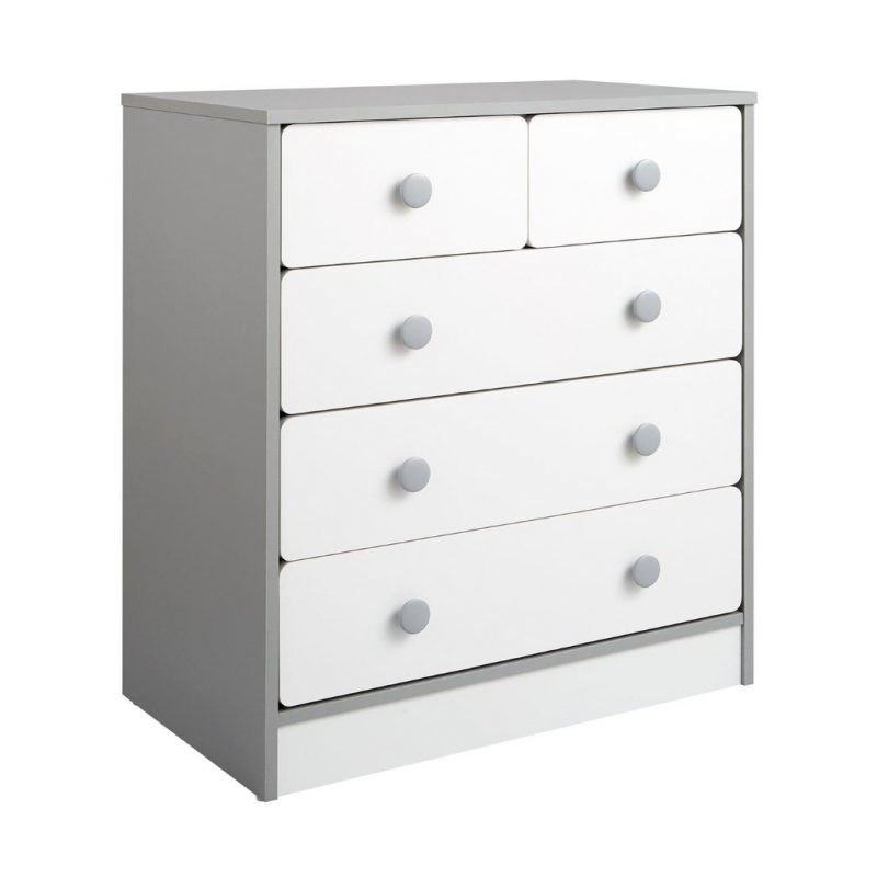 Grey and white chest of drawers
