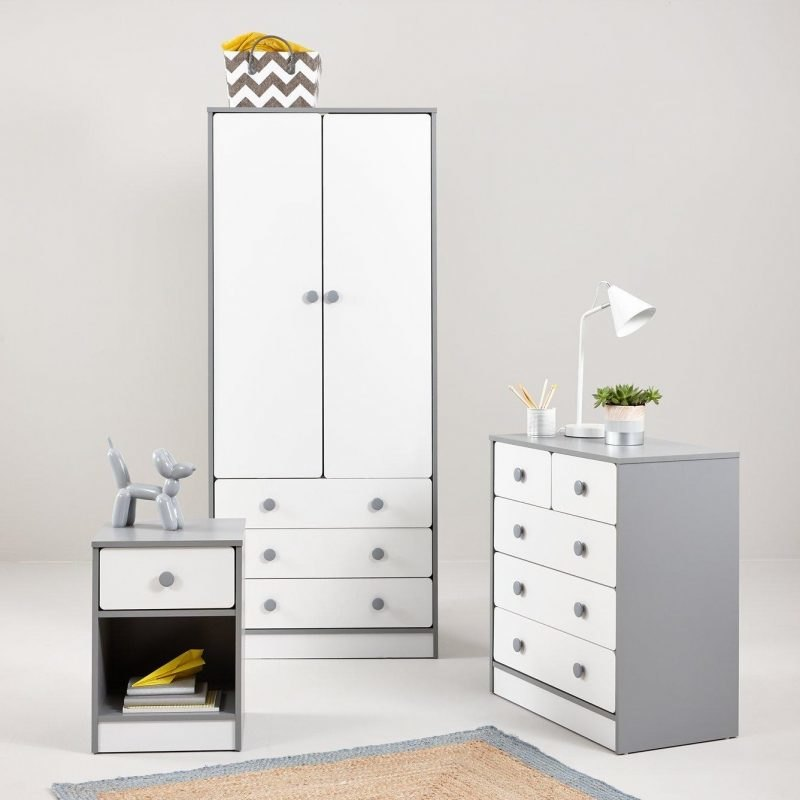 Grey and white children's furniture