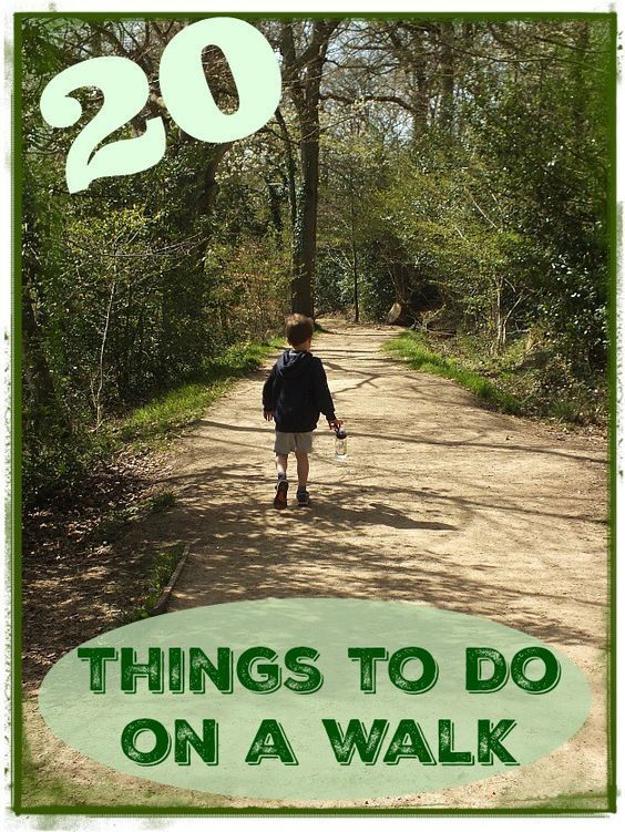 20 things to do on a walk