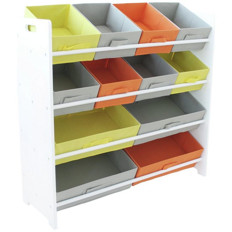 4 tier storage with pastel colour bins
