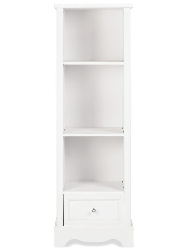 White-painted bookcase