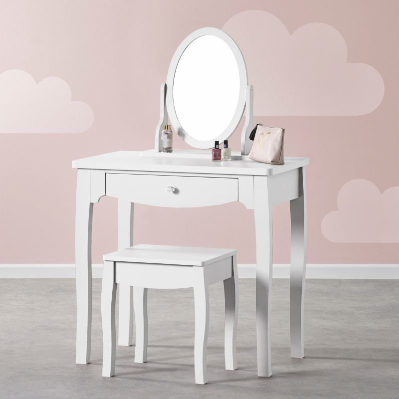 Children's white-painted dressing table