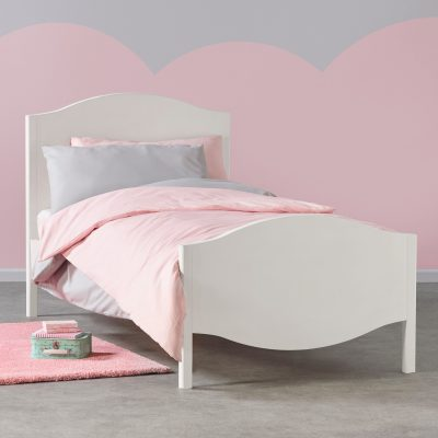 White painted single bed