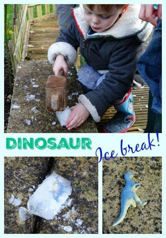 Dinosaur ice break game