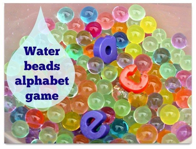 Water beads alphabet game