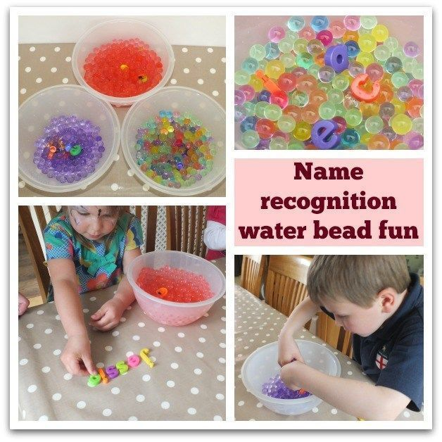 Water beads name recognition