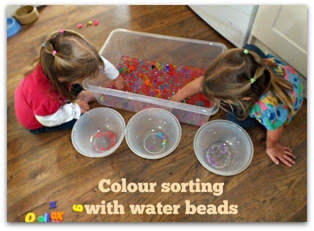 Sorting water beads