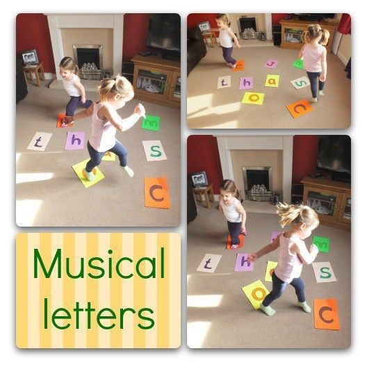Playing musical letters
