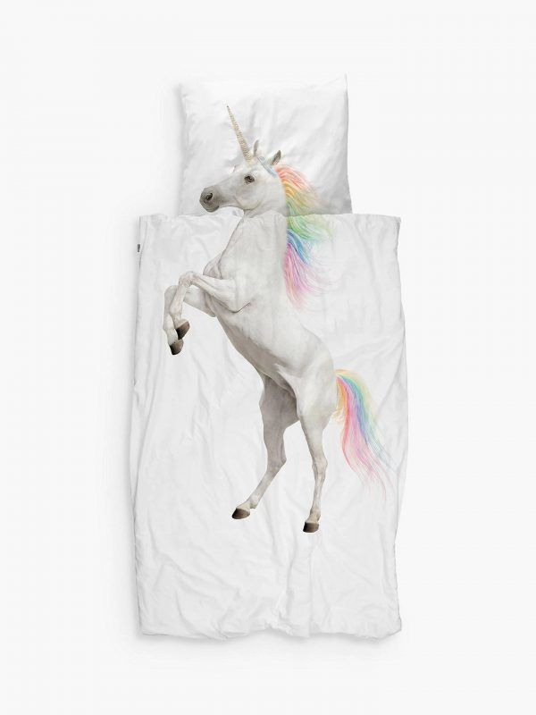 Realistic unicorn print bedding set