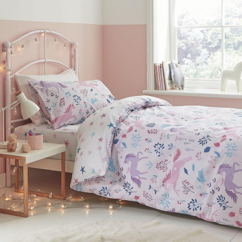 Pink unicorn duvet set