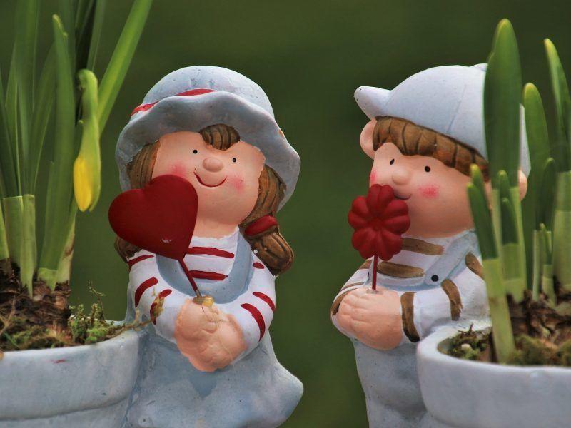 Kids and pot plants