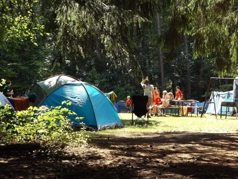 A family camping trip