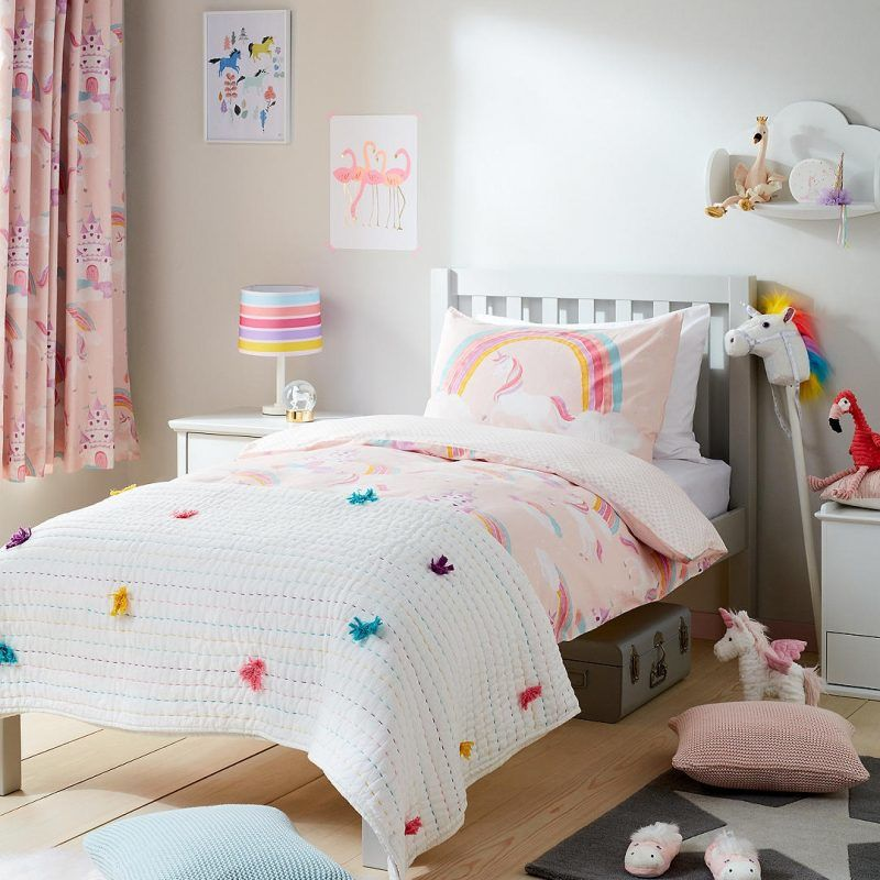 little home magical unicorn theme bedding curtains