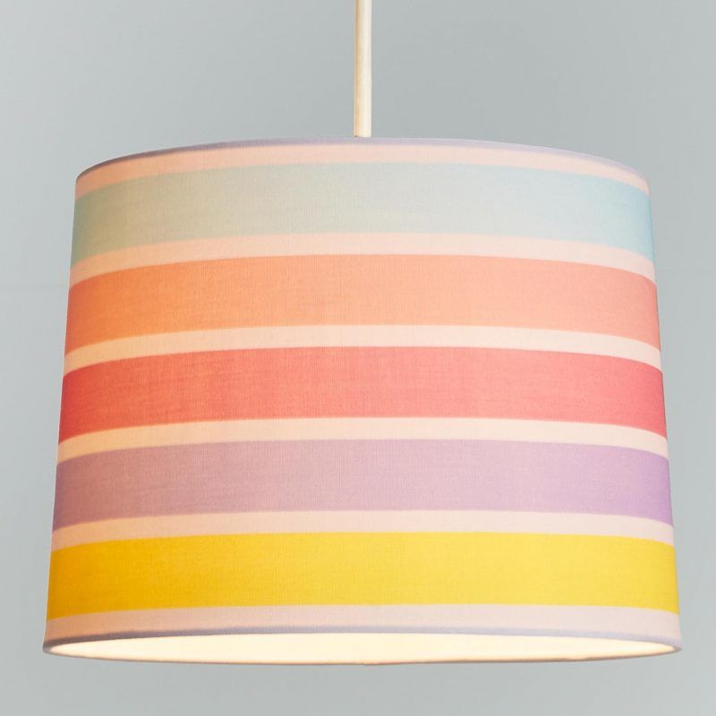 Striped lampshade