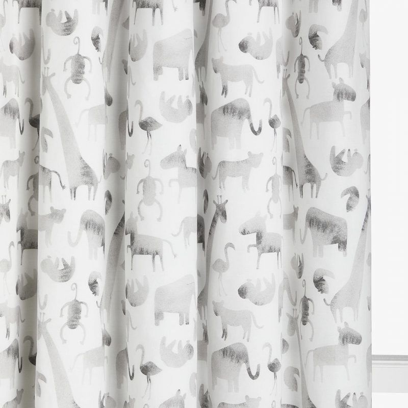 Safari print children's curtains