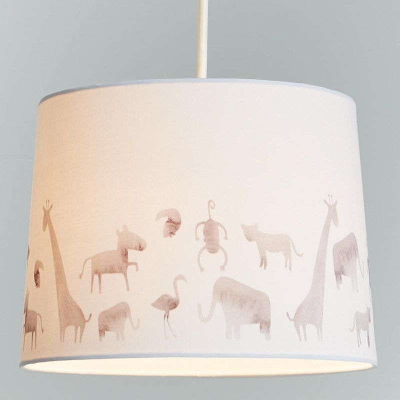 Safari print lampshade