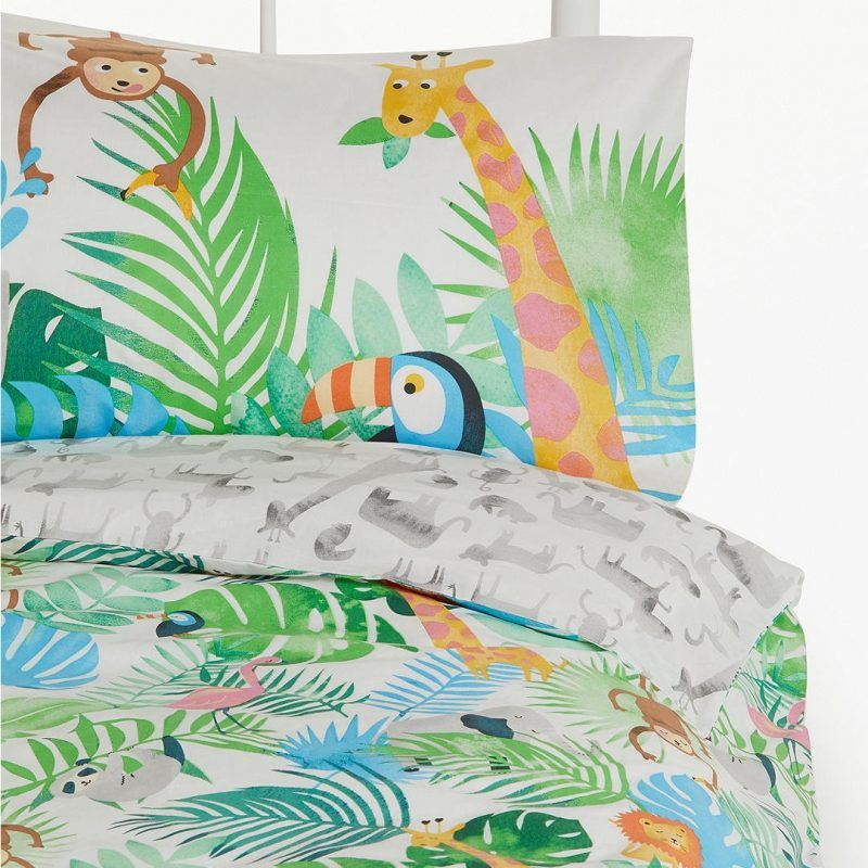 Safari print duvet set