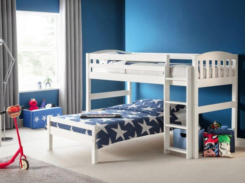 White combination bunk bed