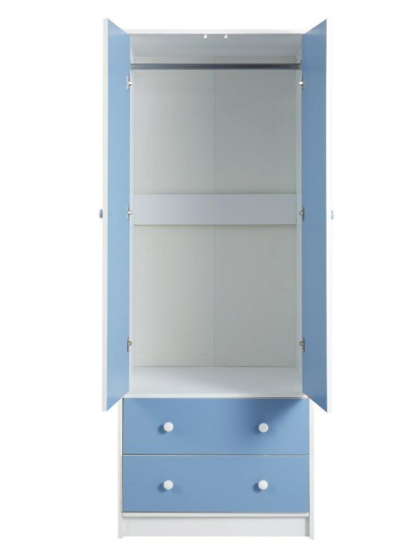 Blue and white children's wardrobe
