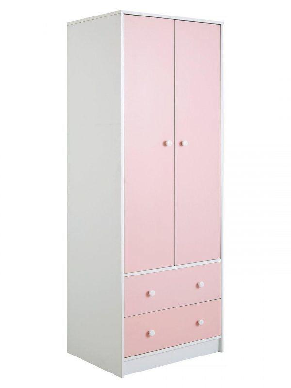 Pink and white children's wardrobe