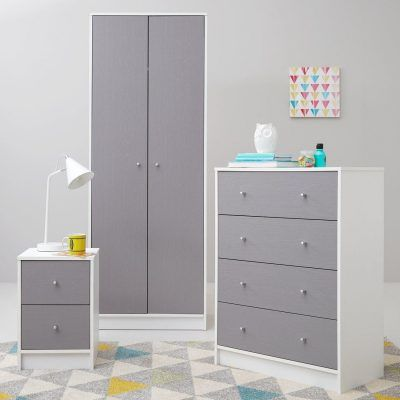 Grey/white bedroom furniture