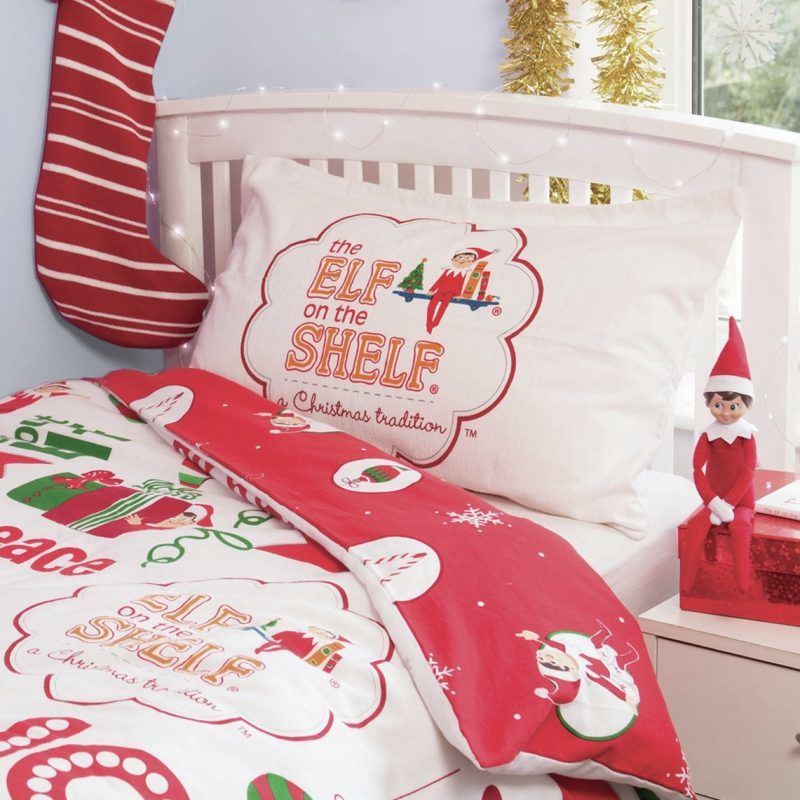 The Elf on the Shelf themed bedding set