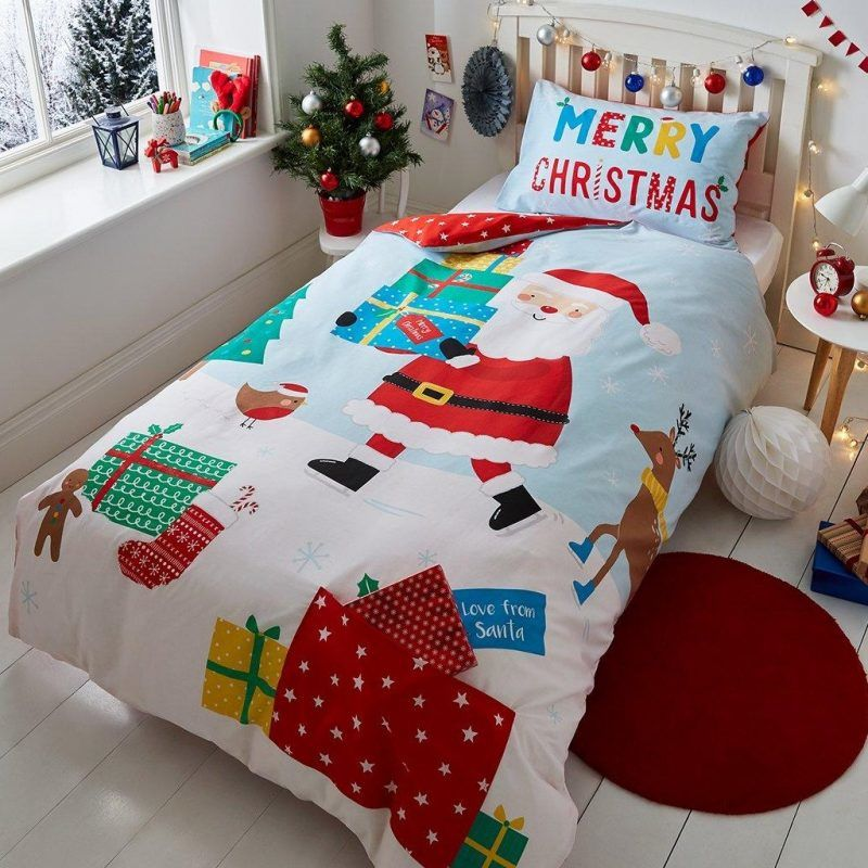 Kid's Santa themed bedding set