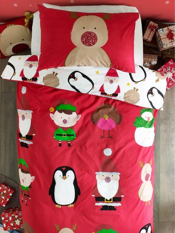 Bold pattern Christmas duvet set