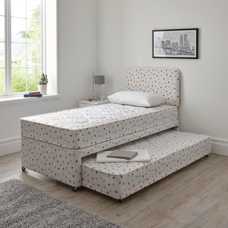 Star print divan with pull-out guest bed