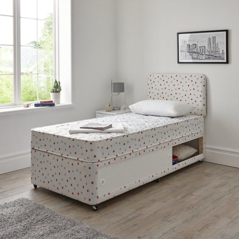 Storage divan with star print