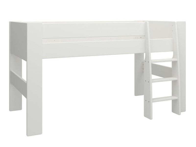 White mid sleeper bed frame