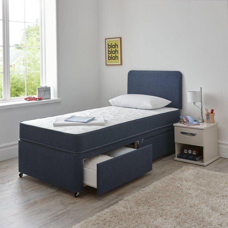 Blue storage divan