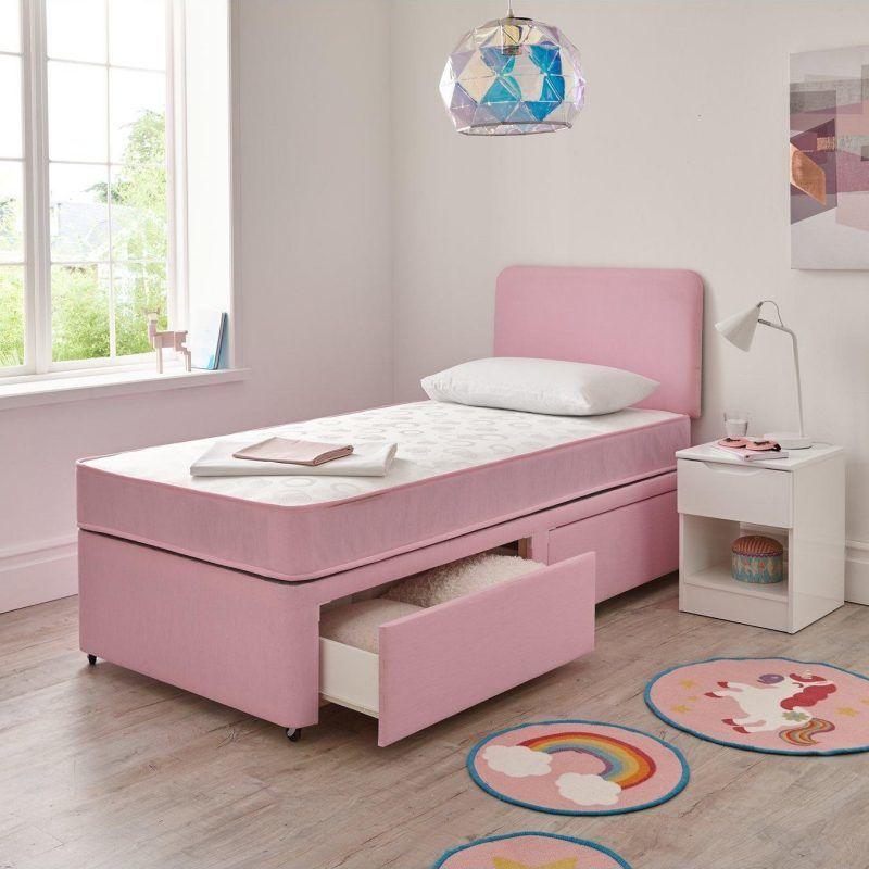 Pink storage divan