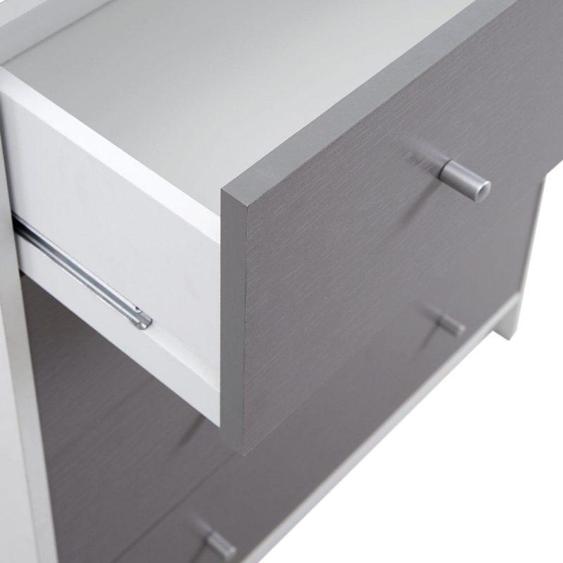 Grey woodgrain drawer front