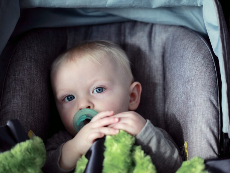Baby sat in car seat