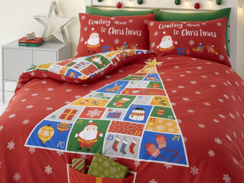 Advent themed bedding